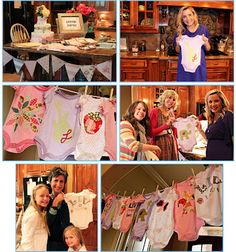 onesie party with printables and applique templates