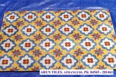 ATHAGUDI TILES-SELVA INDUSTRIES - Few Designs