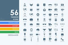 56 fashion icons by Palau on Creative Market