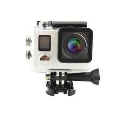 Sale 18% (93.99$) - HDKing N5B NTK96660 4K Ultra HD 170° Wide Angle Fisheye WiFi Sports Camera Dual TFT LCD 12MP IMX078 20M 30m Waterproof