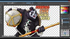Drawing Chen Stormstout using Krita Chen, Drawings, Illustration, Artwork, Projects, Log Projects, Work Of Art, Blue Prints, Auguste Rodin Artwork