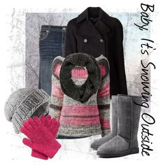 Baby, It's Snowing Outside, created by mirgissmol on Polyvore