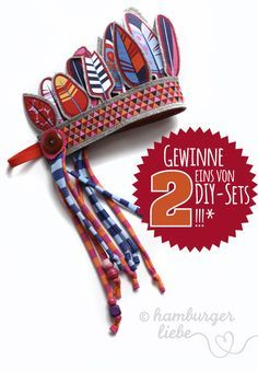 free Fly Feather, Tutorial Tuesday: Instructions for an Indian headdress by Hamburger Liebe Casino E Felt Crafts, Fabric Crafts, Indian Birthday Parties, Felt Crown, Sewing Projects, Sewing Crafts, Kids Dress Up, Halloween Disfraces, Sewing Toys