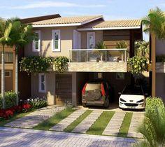 Imagenes de fachadas de casas modernas con balcon