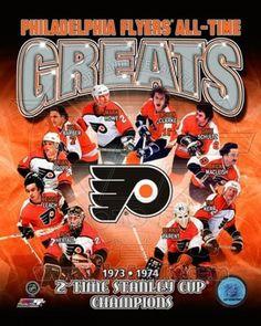 Philadelphia Flyers All-Time Greats Composite Sports Photo (8 x 10) - Item # PFSAAPB23001 - Posterazzi