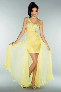 Yellow formal dresses sale