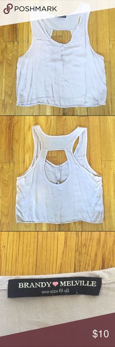 Lilac Brandy Melville Crop Top Lilac Brandy Melville Crop Top. Flowy and light! Brandy Melville Tops Crop Tops