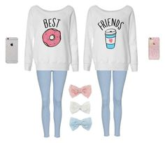 """""""Best friends"""" by banana-cupcake ❤ liked on Polyvore featuring Topshop, Decree and Skinnydip"""
