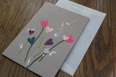 """13x18cm Grusskarten""""LIEBE""""mit Umschlag von Kojo  auf DaWanda.com"""
