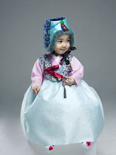 한복 Hanbok : Korean traditional clothes[dress] #modernhanbok #babyhanbok
