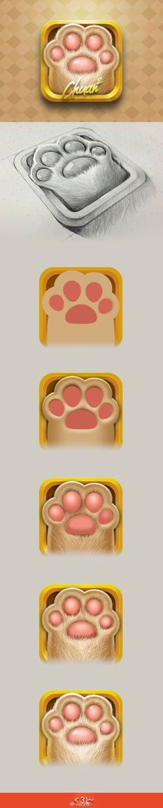 This app icon not only shows you the finished product, but also how the designer completed the project! I find this very helpful as an up and coming designer! The process shows the details that went into each step and the proccess that had to be completed.