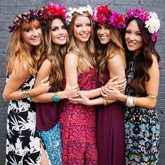 popular look for our photoshoots at we supply flower crowns henparty packages Galway , Ireland