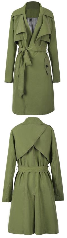 Olive green long jacket