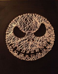"Nightmare Before Christmas ""Jack"" String Art on Etsy, $50.00"