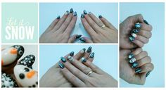 """""""Let it snow, let it snow..."""" My first steps with gel and hybrid nails :)"""