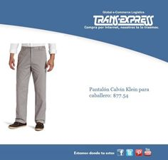 Pantalón Calvin Klein, perfecto como regalo para papá. Costo puesto en El Salvador $77.54 http://amzn.com/B003VQQYLE