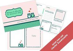 Hochzeitsgästebuch - Gästebuch Shabby mit Fragen an die Gäste (PDF) - ein Designerstück von Be-nice-4-you bei DaWanda