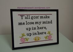 Free DMX rap lyrics cross stitch pattern/chart