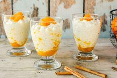 Rijstpap met mandarijntjes. #rijstpap #mandarijn #fruit #vanille #lekker #bosto