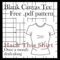 Blank Canvas Tee - Free Multi-Sized Sewing Pattern with LOTS of Variations to Transform this Tee to Super Cute Tops