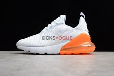 wholesale dealer cedad dc4bd Nike Air Max 270 White Pack  Total Orange  AH8050-102