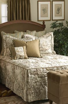 Bedspreads custom made to exactly fit your bed in the material you choose.
