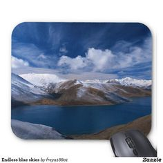 Endless blue skies mouse pad