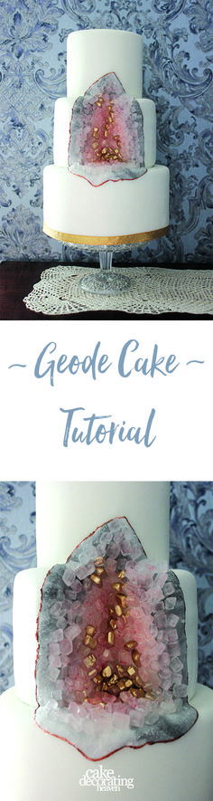 Love Geode Cakes? Try this amazing tutorial and recipe by Charlotte White (Restoration Cake). Latch on to the geode cake trend!