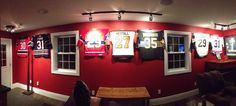 NHL Man Cave - Hockey Hall of Fame - Featuring the Ultra Mount Jersey Display hangers