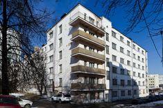 Старообрядческое Лефортово - Прогулки с дилетантом.   Москва, Пройдём ниже по Малой Почтовой, где обнаружим дома конструктивистского стиля.