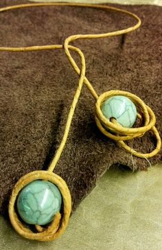 Necklace with ceramics
