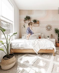 This soft and subtle, dreamy boho wallpaper makes for the perfect accent wall. Dreamy is an understatement when it comes to this removable abstract wallpaper. Boho Teen Bedroom, Bohemian Bedroom Decor, Boho Room, Bali Bedroom, Boho Style Decor, Modern Bedroom Decor, Bohemian Style Bedrooms, Modern Bohemian, Bedroom Themes
