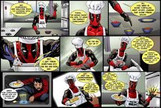 Cooking with Deadpool by *ScarletVulture on deviantART makes me laugh sooooo much!