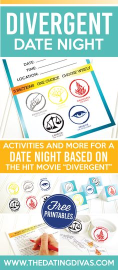 Divergent Date Night - great ideas for watching with the movie!