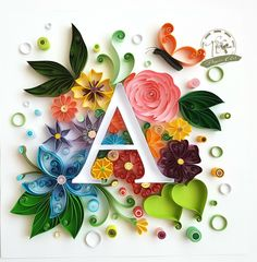 Quilling Letters, Quilling Work, Paper Quilling Jewelry, Paper Quilling Patterns, Quilled Paper Art, Quilling Paper Craft, Paper Crafts Origami, Monogramm Alphabet, Quilling Images