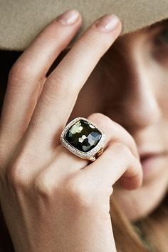 David Yurman's signature gemstone cuts reflect the sun. Jewelry Box, Jewelry Accessories, Jewelry Design, Gold Jewelry, Wedding Tattoos, Jewelry Photography, Princess Cut Diamonds, Diamond Are A Girls Best Friend, David Yurman