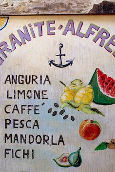 love the illustrations for signage. so italian.