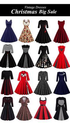 Vintage Dresses-Christmas Big Sale