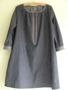 Marilla Walker. V - button placket dress from 'Stylish dress book 2 simple smock dresses and tops'