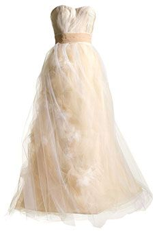 Champagne-colored raw silk faille wedding dress