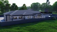 4 Bedroom House Plan - My Building Plans South Africa Split Level House Plans, Square House Plans, Metal House Plans, My House Plans, Family House Plans, My Building, Building Plans, House Plans South Africa, 4 Bedroom House Plans