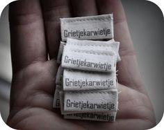 Grietjekarwietje: Zelf labels maken