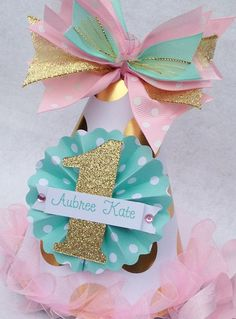 Pink Mint and Gold Glamour Girl Birthday por LittlePinkTractor