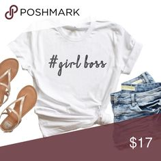 #girl boss Graphic Tee(WHITE) Girl boss!!💕  Color of shirt: White SHIRT IS NOT UNISEX, Sizing is for women. This shirt provides a longer length.  Ring spun cotton feels soft and smooth due to its refined production process. Its construction creates a stronger, tighter fabric weave that still feels lightweight and breathable. Because of the tighter knit, ring spun fabric is more durable than standard cotton and tends to last longer.   * Fit is comfortable **PHOTO IS THE ACTUAL SHIRT** Minted…