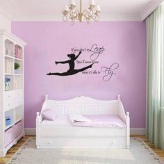 GYMNAST GYMNASTIC,GIRLS Bedroom  Quote, Vinyl Wall Art Sticker Decal, Mural,
