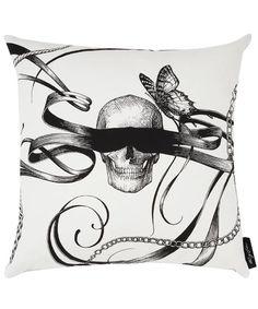 Skull cushion.