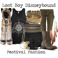 Lost Boy Disneybound by capamericagirl21 on Polyvore featuring Replay, Madden Girl, Proenza Schouler, Hipanema, Anni Jürgenson and Spirit Hoods