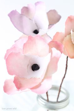 Follow these simple steps to create beautiful Watercolor Flowers - the perfect way to enjoy flowers year-round with no maintenance! | LoveGrowsWild.com