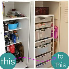 simply organized: Making The Most of an Odd Cabinet