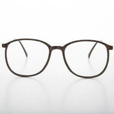 44ad546ed64053 Preppy Round Vintage Eyeglasses by Rem Carbon Fiber RX Optical Quality-REM  Kohlefaser